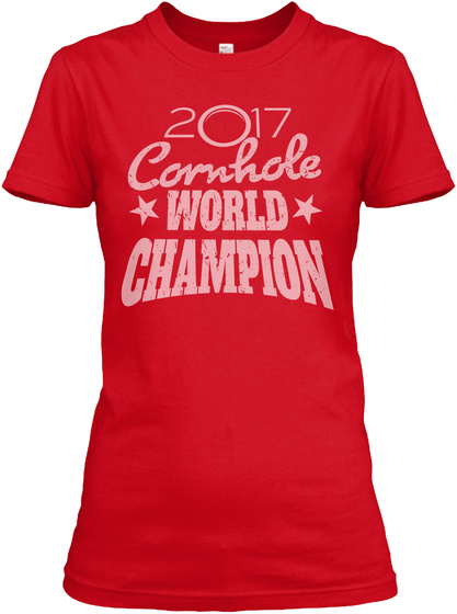 Cornhole World Champion By Ayktees Red Women's T-Shirt Front