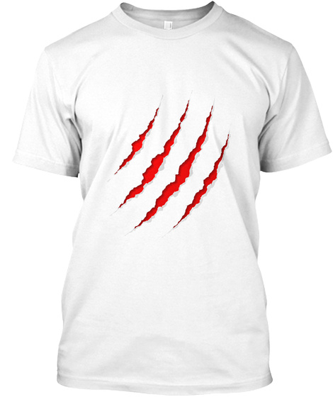 Tiger Claw T Shirt White T-Shirt Front
