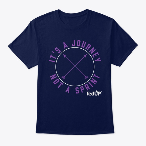 It's A Journey Not A Sprint! (Circle) Navy T-Shirt Front