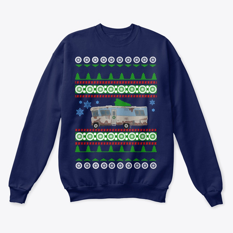 Rv Ugly Christmas Sweater Navy  T-Shirt Front