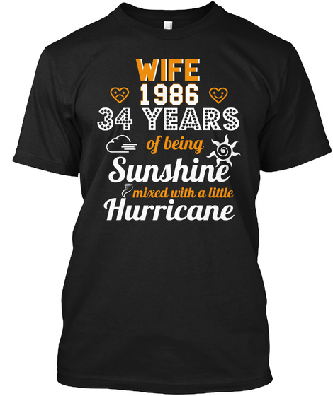 Wife Since 1986 34th Wedding Anniversary Unisex Tshirt
