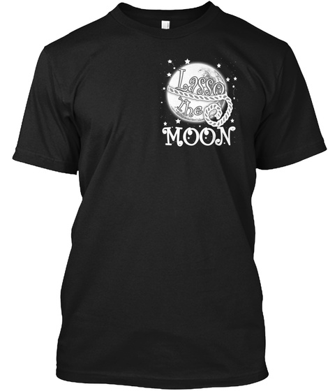Moon Black T-Shirt Front