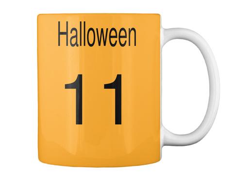 Halloween  11 Athletic Gold Mug Back