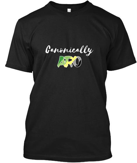 Canonically Aro (Dark) Black T-Shirt Front