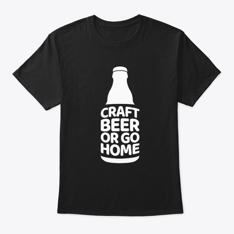 Craft Beer Gift Oktoberfest Alcohol Ipa  Black T-Shirt Front