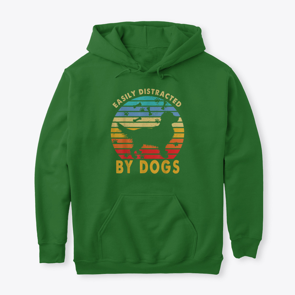 Red Plaid Easily Distracted by Dogs and Teeth Unisex Hoodie