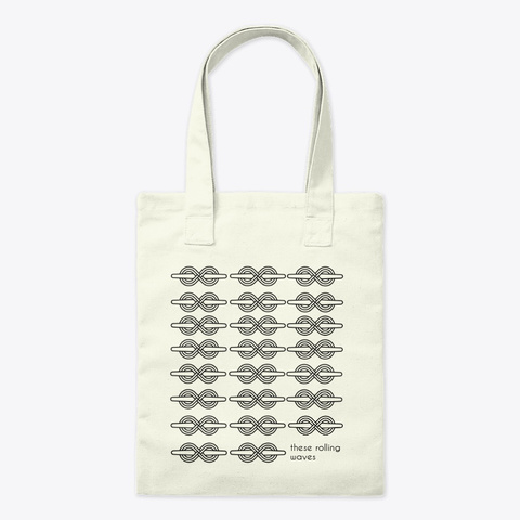 These Rolling Waves Tote Natural T-Shirt Front