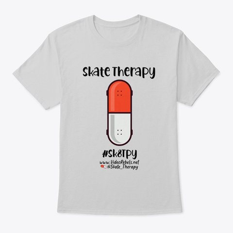 Skate Therapy Light Steel T-Shirt Front