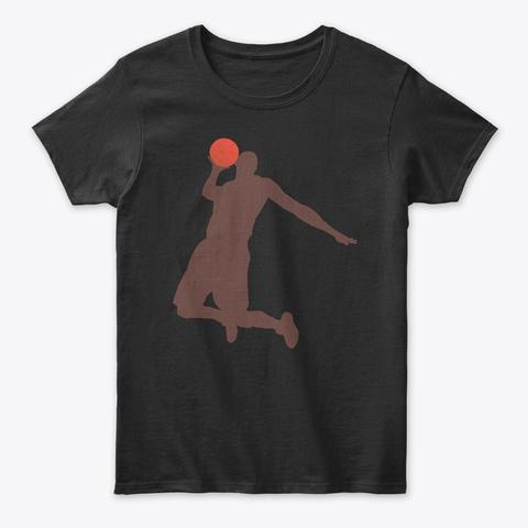 Basketball T Shirt Black T-Shirt Front