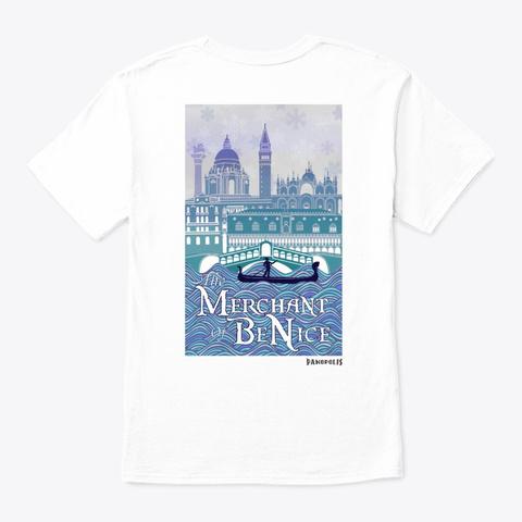 Merchant Of Be Nice White T-Shirt Back