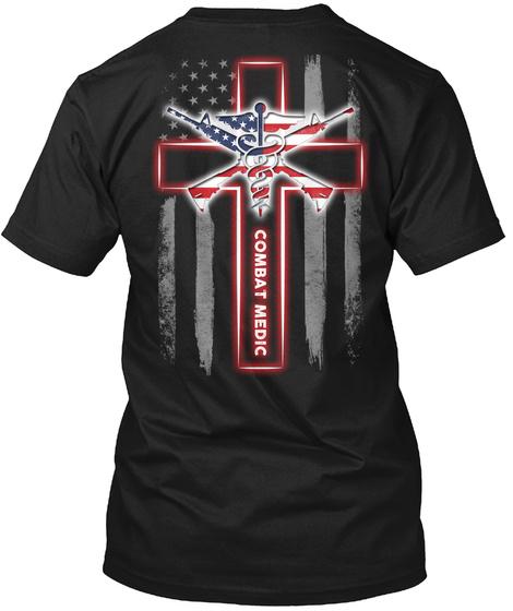 Combat Medic Black T-Shirt Back