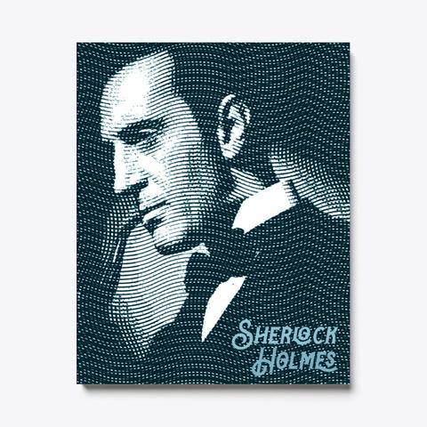 Sherlock Holmes Vintage Money Print Black T-Shirt Front