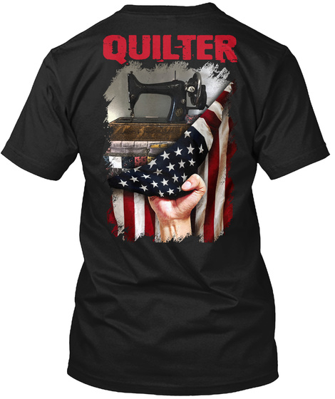 Quilting  Past Buyers Exclusive Black T-Shirt Back