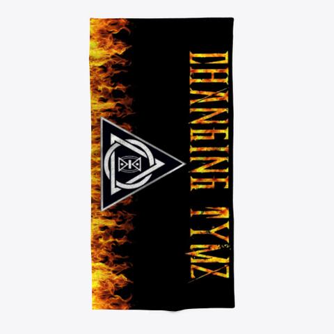 Changing Tymz Custom Beach Towel Black T-Shirt Front