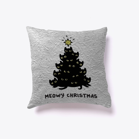 Meowy Christmas Pillow White T-Shirt Front