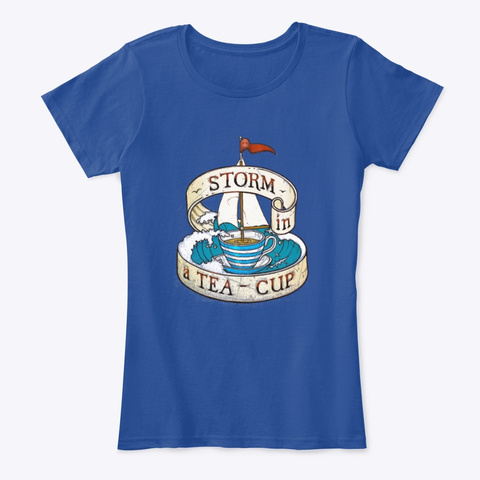 Storm In A Teacup Deep Royal  T-Shirt Front