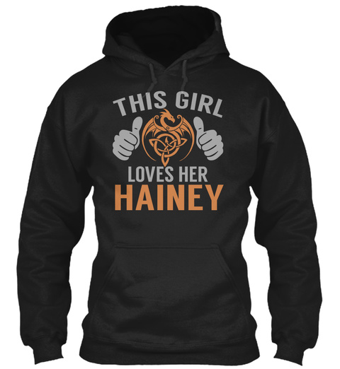 Loves Hainey   Name Shirts Black T-Shirt Front