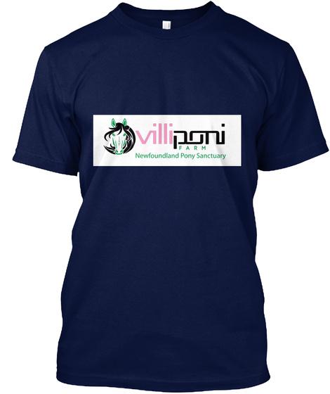 Newfoundland Pony Lover   Misty Navy T-Shirt Front