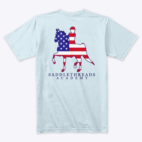 Academy   Usa Light Blue T-Shirt Back