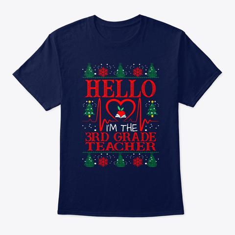 Hello 3rd Grade Teacher Christmas Gift Unisex Tshirt