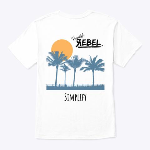Simplify (Palms) White T-Shirt Back