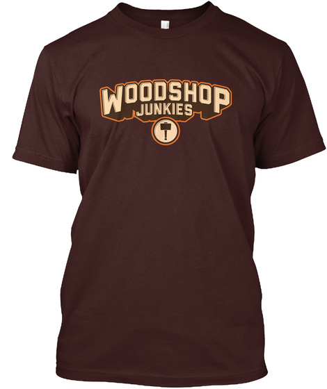 Woodshop Junkies Logo Brown T-Shirt Front
