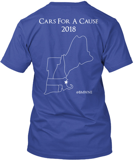 Cars For A Cause  2018 @Bmwne Deep Royal T-Shirt Back