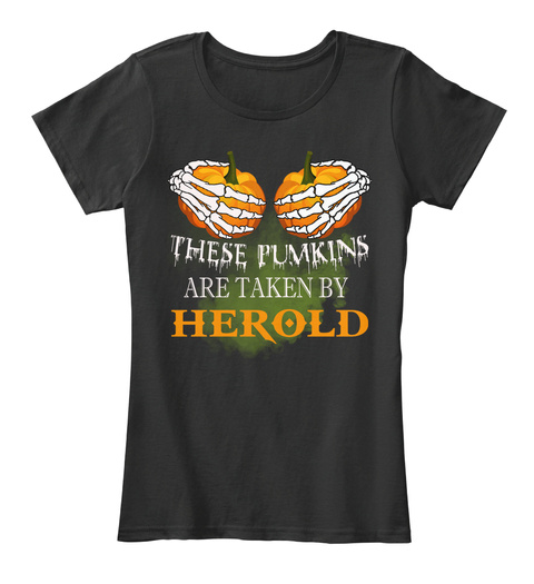 These Pumkins Are Taken By Herold Black T-Shirt Front