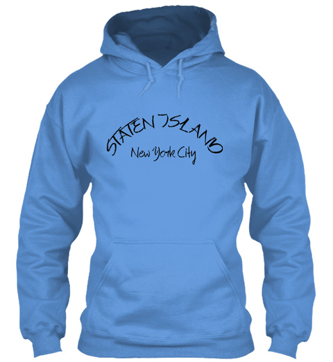 Staten Island New York City Carolina Blue T-Shirt Front