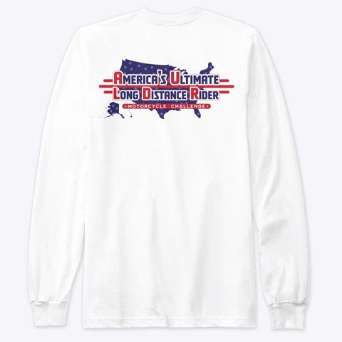 Small Logo Front , Large Logo Back White T-Shirt Back