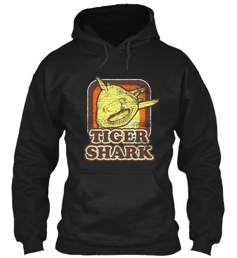Tiger Shark Predator Black T-Shirt Front