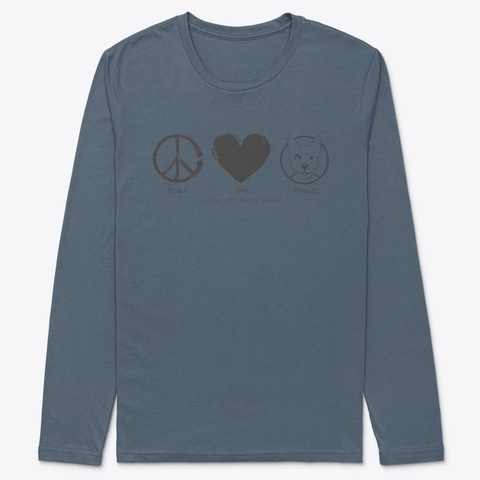 Cdr Peace Love Rescue Indigo T-Shirt Front