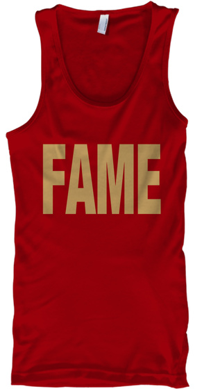 Fame Red T-Shirt Front