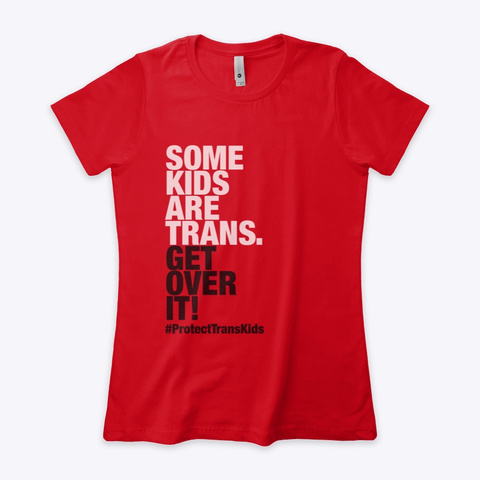 Protect Trans Kids Red T-Shirt Front