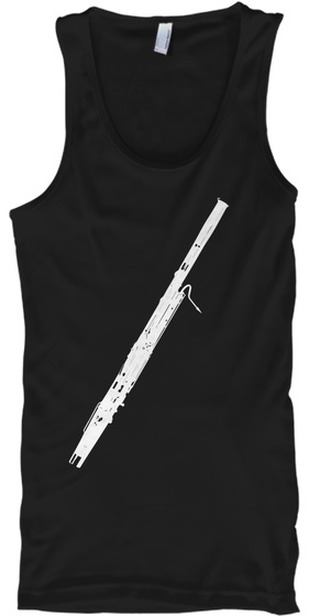 Bassoon Tank Top Black T-Shirt Front