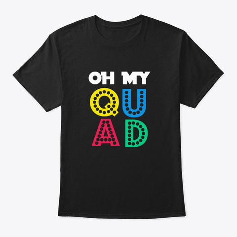 [Color Guard] Oh My Quad! Black T-Shirt Front