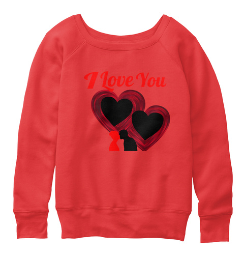 I Love You Red T-Shirt Front