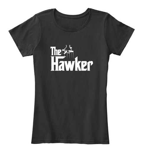 The Hawker Black T-Shirt Front