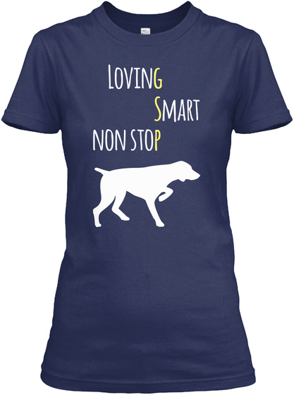 Loving Smart Non Stop Navy T-Shirt Front