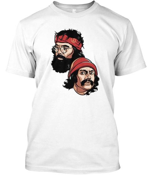 Cheech & Chong White T-Shirt Front
