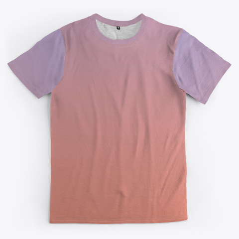 Rose Abstract Color Gradient Minimal Art Standard T-Shirt Front