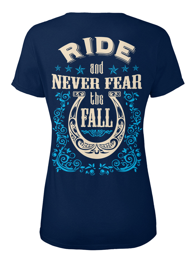 Horse-Never-Fear-The-Fall-Eu-T-shirt-Elegant-pour-Femme