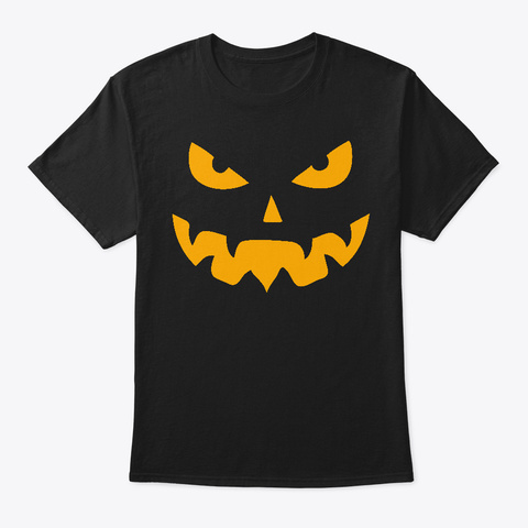 Helloween Pumpkin Head Black T-Shirt Front