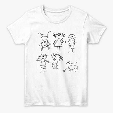 Funny Art Womens Kids Birthday  Design  White T-Shirt Front