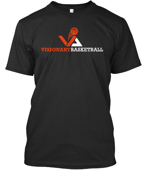 Visionary Basketball Black T-Shirt Front