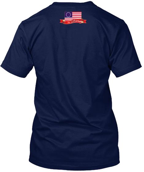 Shays Rebellion Navy T-Shirt Back