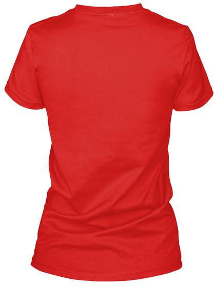 Keep Calm Scottish Girl Red T-Shirt Back