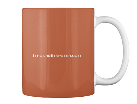 The Lab Trpstra Net Burnt Orange Mug Back