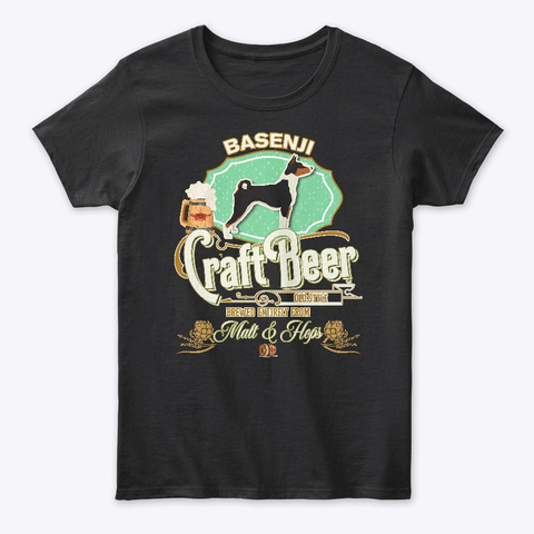 Basenji Gifts I'll Be There For You Black T-Shirt Front