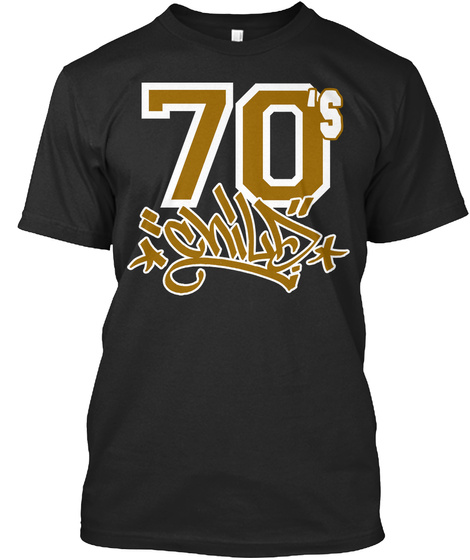 70's Black T-Shirt Front
